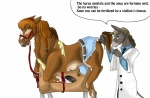 bdsm bondage bound clothing doctor donkey duo equine female feral horse humiliation inspection kaeaskavi male mammal nude silao teats torn_clothing transformation wooden_horse  Rating: Explicit Score: 8 User: ArranSwiftide Date: March 04, 2013