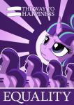 2015 blue_eyes english_text equine female friendship_is_magic green_hair hair hi_res horn mammal multicolored_hair my_little_pony mysticalpha poster propaganda purple_hair solo starlight_glimmer_(mlp) text unicorn  Rating: Safe Score: 10 User: 2DUK Date: April 08, 2015