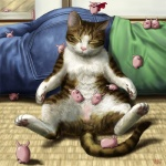2012 ambiguous_gender balls blush cape cat clothing eyes_closed feline hindpaw lying male mammal pawpads paws pig porcine sleeping spread_legs spreading taku whiskers  Rating: Questionable Score: 9 User: AnacondaRifle Date: February 11, 2012""