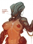 2016 areola breasts cum cybernetics cyborg dialogue digital_media_(artwork) english_text erect_nipples female machine neurodyne nipples nude robotic simple_background sketch solo text white_background  Rating: Explicit Score: 6 User: xn0 Date: April 27, 2016