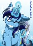 2014 blue_eyes blue_fur blue_hair colgate_(mlp) cutie_mark english_text equine female feral friendship_is_magic fur glowing hair hi_res horn inuhoshi-to-darkpen looking_at_viewer magic mammal multicolored_hair my_little_pony one_eye_closed smile solo sparkles teeth text toothbrush two_tone_hair unicorn white_hair winkRating: SafeScore: 4User: slyroonDate: May 21, 2017