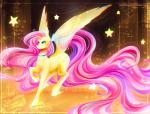 2016 blue_eyes collar equine female fluttershy_(mlp) friendship_is_magic hair hi_res koveliana long_hair mammal my_little_pony pegasus pink_hair solo sparkles star tail_extensions wings  Rating: Safe Score: 10 User: 2DUK Date: February 05, 2016