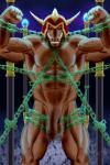 2016 5_fingers abs absurd_res angry anso/rez anthro armor balls battle_ox bdsm biceps big_balls big_penis blue_fire bondage bound bovine chain darkened_genitals digital_media_(artwork) enraged_battle_ox fiendish_chain fire flexing helmet hi_res humanoid_penis konami looking_at_viewer male mammal muscular muscular_male nude pecs penis red_eyes solo teeth thick_penis vein veiny_penis yu-gi-oh  Rating: Explicit Score: 4 User: Anso/Rez Date: April 15, 2016