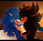 anal anal_penetration anthro biting_lip blush cum cum_in_ass cum_inside duckyeah duo green_eyes half-closed_eyes hi_res male male/male nipples penetration red_eyes sex shadow_the_hedgehog sonic_(series) sonic_the_hedgehog sweat  Rating: Explicit Score: 5 User: zqyva Date: April 20, 2016
