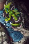 2017 anthro basilisk black_fur black_scales brown_scales crest drooling english_text feral fuf fur green_scales group hair hi_res male male/male mammal neck_bulge nude open_mouth reptile saliva scales scalie signature skunk snake stripes text vore white_fur white_hairRating: QuestionableScore: 15User: GameManiacDate: March 29, 2017