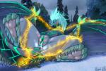 auroth_the_winter_wyvern bdsm belly_scales blush bondage bound butt claws cum dota dragon eyes_closed female fur furred_dragon hair horn leaking pussy_juice scales scalie seductive shackles solo spread_legs spreading stripes sweat used video_games wet wingedwilly wyvern