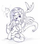 2014 avian bird cute cutie_mark equine female feral flower fluttershy_(mlp) friendship_is_magic hair horse mammal mickeymonster monochrome my_little_pony pegasus pony wings   Rating: Safe  Score: 7  User: Robinebra  Date: March 04, 2014