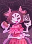 anthro arachnid arthropod black_eyes black_hair doughnut duo english_text fangs female feral food furrieseverywhere-bb grey_skin hair hair_bow muffet multi_limb multiple_eyes one_eye_closed open_mouth spider_web tea_cup tea_pot text undertale  Rating: Safe Score: 0 User: ROTHY Date: October 05, 2015