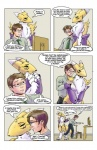 2012 anthro bed blue_eyes breasts brothers canine comic digimon english_text eyewear female fox fur glasses green_eyes henbe human like_family_by_henbe male mammal renamon sibling text white_fur yellow_fur  Rating: Safe Score: 6 User: Rexnano Date: July 02, 2012""