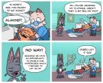 adam_&_steve adam_(a&s) cat conveniently_censored dentist feline fur grey_fur mammal romantic_couple simon_erikkson steve_(a&s)Rating: SafeScore: 0User: KanjiKunHusbandoDate: March 30, 2017