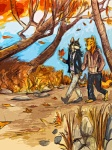 anthro autumn black_hair canine clothed clothing couple detailed_background duo falling_leaves footwear grass hair hand_holding hoodie jacket java leaves male male/male mammal nature necktie outside pants rock shoes sky tree walking   Rating: Safe  Score: 11  User: queue  Date: October 02, 2011