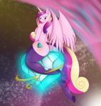 2015 anthro anthrofied big_butt blush breasts butt clothing crystal cutie_mark equine female friendship_is_magic glowing hair hand_behind_head hi_res horn legwear long_hair looking_back mammal multicolored_hair my_little_pony nude princess_cadance_(mlp) purple_eyes side_boob sitting solo space straddling suirano thick_thighs thigh_highs winged_unicorn wings  Rating: Questionable Score: 23 User: lemongrab Date: August 20, 2015