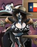 2015 anthro beauty_mark big_breasts big_butt black_lips black_nose breasts brown_eyes brown_hair butt canine chaps cleavage clothed clothing cowboy_hat crop_top dog domination duo english_text fangs female female_domination flag floppy_ears fur gloves hair hat huge_breasts huge_butt inu-jean larger_female leather long_hair male mammal mouse pink_nose red_eyes rodent shirt size_difference smaller_male smile smothering sweat table tank_top teeth texas_flag text thick_thighs voluptuous white_fur wide_hips wood  Rating: Questionable Score: 42 User: slydevious Date: June 13, 2015
