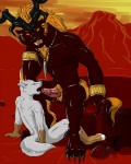 """2014 anthro balls canine demon dog duo erection fellatio final_fantasy final_fantasy_x fur hair horn ifrit male male/male mammal nude oral penis sex video_games volac wolf  Rating: Explicit Score: 9 User: Volac Date: October 12, 2014"""""""