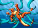 4:3 anal anal_penetration anthro charizard claws death dragon female membranous_wings nintendo penetration pokémon pokémon_(species) pussy restrained silvergrin solo spread_legs spreading tentacle_sex tentacles toe_claws underwater video_games water wings zetsin