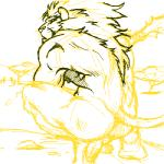 backsack balls butt crouching feline furryrevolution lion low_res male mammal mane muscular nipples outside penis sketch solo tree whiskers  Rating: Explicit Score: 1 User: Vinea Date: February 05, 2014