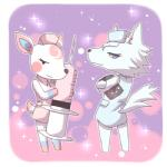 animal_crossing anthro canine cervine deer diana_(animal_crossing) duo female mammal nintendo nurse syringe unknown_artist video_games whitney_(animal_crossing) wolf   Rating: Safe  Score: 4  User: Untamed  Date: December 09, 2013