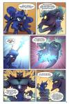 2015 comic demon dialogue duo english_text equine female feral friendship_is_magic horn lovelyneckbeard male mammal my_little_pony princess_luna_(mlp) square_crossover text winged_unicorn wings  Rating: Safe Score: 5 User: Robinebra Date: August 13, 2015