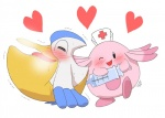 <3 chansey duo enema feral feral_on_feral hat nintendo nurse nurse_hat pasaran pelipper pokémon pouch_(anatomy) shaking simple_background syringe trembling video_games white_backgroundRating: ExplicitScore: 3User: AfterglowDate: April 11, 2016