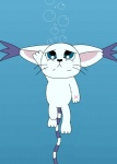 big_ears blue_eyes bubble cat cute digimon drowning ear_tuft feline fur gatomon lazyorangecat long_tail mammal scar solo water whiskers white_fur   Rating: Safe  Score: 0  User: BushyTailHugger  Date: February 24, 2014