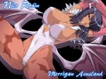 animal_ears bat bat_girl big_breasts black_hair breasts camel_toe clothed clothing darkstalkers hair horn mammal morrigan_aensland nico_robin nipples one_piece pink_lips solo spread_legs spreading tattoo video_games wings yellow_eyes   Rating: Questionable  Score: 9  User: fap4life  Date: May 18, 2015