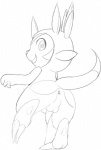 anus balls chespin cum erection feral looking_at_viewer male monochrome nintendo penis pokémon semi-anthro sketch solo tapering_penis unknown_artist video_games