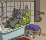 anthro back bath bathroom bathtub biceps bottle brown_eyes brown_nose butt claws duo elder eyes_closed father father_and_son fur green_skin grey_fur grope hi_res interspecies kissing leonardo_(tmnt) male male/male mammal momorawrr muscles nails ninja nude open_mouth parent pecs pink_nose rat reptile rodent rug scales scalie semi_incest smile son splinter table teenage_mutant_ninja_turtles toned tongue towel tube turtle water wet whiskers  Rating: Explicit Score: 8 User: MadAres Date: February 20, 2015