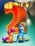 2012 annoying_watermark boxart checkered crossed_arms cub discord_(mlp) draconequus equine female feral friendship_is_magic hands_on_hips lazyperson202 mammal my_little_pony parody pegasus pose rainbow_dash_(mlp) scootaloo_(mlp) sonic_(series) standing teal_background watermark wings young   Rating: Safe  Score: 47  User: masterwave  Date: December 03, 2012