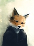 ambiguous_gender anthro canid canine clothing fox jacket mammal painting_(artwork) photorealism solo traditional_media_(artwork) unknown_artist watercolor_(artwork)Rating: SafeScore: 9User: slyroonDate: April 25, 2017