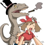 balls bandanna cigar dinosaur female feral forced from_behind hat human interspecies male may_(pokemon) nintendo penis plain_background pokémon rape scalie sex smoking straight top_hat video_games villainous_victorian_velociraptor white_background   Rating: Explicit  Score: 2  User: ktkr  Date: July 11, 2010
