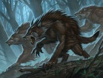 ambiguous_gender canine claws craig_j._spearing fangs forest magic_the_gathering mammal official_art scar tree were werewolf  Rating: Safe Score: 14 User: Shardshatter Date: April 14, 2016