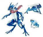 amphibian feral froakie frog frogadier greninja hi_res nintendo pokémon realistic rene_campbell tongue video_games  Rating: Safe Score: 7 User: Rad_Dudesman Date: February 23, 2016