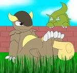 1-upclock disembodied_penis feet female foot_fetish footjob kangaskhan male mature_female milftar nintendo penis pokémon simple_background smile toes tyranitar video_games  Rating: Explicit Score: 6 User: TheHappyAshibe Date: August 27, 2015