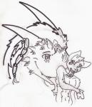 airenth anthro canine collar diablito_(artist) dog dragon drooling duo feral fur hair happy horn infinite licking malamute male mammal mane nude open_mouth saliva scalie size_difference sketch smile tongue tongue_out wet wolf wolfywetfurrRating: SafeScore: 1User: wolfywetfurrDate: November 22, 2017
