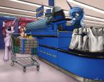2015 blue_hair cashier crying cub equine female feral forced_smile friendship_is_magic group hair horn long_hair mammal my_little_pony neko-me princess_luna_(mlp) shop shopping_cart tears unicorn young   Rating: Safe  Score: 12  User: Somepony  Date: April 08, 2015