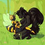 antlers areola arthropod bee black_fur black_hair breasts female female/female fur hair horn insect jellybats mammal multi_breast nipples nude rodent squirrel wings   Rating: Explicit  Score: 8  User: Peekaboo  Date: February 18, 2015