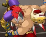 2014 5_fingers abs angry anthro athletic avian beak biceps big_muscles bird boots bulge clothed clothing crossover duo elbow_pads faceless_male fangs fatal_fury feathers feline fight fighting_ring footwear frown fur garou:_mark_of_the_wolves gloves green_eyes grey_eyes human hybrid jaguar king king_(tekken) king_of_fighters maldu male mammal manly mask muscular muscular_male nipples open_mouth pants pecs pose ring royalty shadow sharp_teeth shiny snk spots spread_legs spreading standing struggling teeth tekken the_griffon_mask tizoc tongue topless video_games wrestler wrestling wrestling_clothes yellow_fur  Rating: Questionable Score: 6 User: jaguaryou Date: February 19, 2014