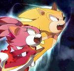 blaze_the_cat burning_blaze feline hedgehog mammal red_eyes sega sonic_(series) sonic_the_hedgehog super_sonic yellow_eyes   Rating: Safe  Score: 3  User: RadDudesman  Date: February 05, 2014