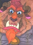 alinraven beast_(disney) blue_eyes brown_fur clothing disney english_text fangs front_view fur headshot_portrait looking_at_viewer male marker_(artwork) mixed_media pen_(artwork) portrait solo text traditional_media_(artwork)  Rating: Safe Score: -3 User: Younggrizzly Date: October 26, 2012