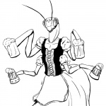 1:1 4_arms alcohol anthro apron arthropod barmaid beer beverage bodice clothing compound_eyes dirndl dungeons_and_dragons female flat_chested insect lacing mandibles mantis multi_arm multi_limb pseudo_pupils queblock solo thri-kreenRating: SafeScore: 13User: Juni221Date: March 17, 2013