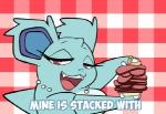 animated aquabunny blush english_text female food looking_at_viewer necklace nidorina nintendo pokémon red_eyes solo text video_games   Rating: Safe  Score: 25  User: Juni221  Date: November 29, 2014