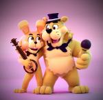 animatronic bear bongo bow_tie duo five_nights_at_freddy's fur golden_freddy_(fnaf) lagomorph machine mammal mechanical microphone open_mouth rabbit robot smashingrenders springtrap_(fnaf) video_games yellow_fur  Rating: Safe Score: 4 User: DeltaFlame Date: July 04, 2015""