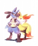 blue_fur braixen canine duo fox fur kirra_summit lucario mammal nintendo pokémon red_eyes video_games yellow_fur  Rating: Safe Score: 12 User: Rad_Dudesman Date: August 20, 2015