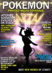 2016 <3 aria_the_espeon clothed clothing cover digital_media_(artwork) eeveelution english_text espeon glowing magazine_cover mammal microphone nintendo open_mouth parody pokémon rymherdier silhouette singing solo text video_games