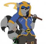 2017 5_fingers anthro blackbear brown_eyes cane clothed clothing fingerless_gloves fur gloves grey_fur hi_res holding_object hoodie male mammal muscular procyonid raccoon simple_background sly_cooper sly_cooper_(series) smile solo striped_tail stripes video_games watermark white_backgroundRating: SafeScore: 7User: BooruHitomiDate: July 12, 2018