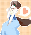 border_collie brown_hair canine collie dog female green_eyes hair kemono mammal open_mouth shioinu solo  Rating: Safe Score: 2 User: KemonoLover96 Date: July 04, 2015""