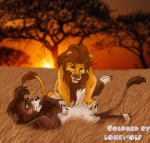 blush chris_mckinley collaboration cum disney feline feral fondling kovu lion lonewolf male male/male mammal masturbation orgasm penis raised_leg simba the_lion_king   Rating: Explicit  Score: 1  User: Agnostos  Date: September 18, 2009