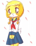 animal_crossing anthro black_eyes blonde_hair blush braided_hair canine clothing dog fur hair isabelle_(animal_crossing) kemono mammal nintendo pigtails school_uniform schoolgirl shih_tzu solo twin_braids uniform unknown_artist video_games yellow_fur  Rating: Safe Score: 1 User: GONE_FOREVER Date: April 07, 2015