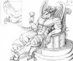 5-d abs anthro biceps chair claws cup dragon foot_worship giant hindpaw horn macro massage micro monochrome nude paws pecs relaxing reptile scalie slave throne toe_claws toes   Rating: Safe  Score: 5  User: dragonrump  Date: March 16, 2013