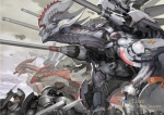 ambiguous_gender armor blades dragon feral flag group gun hi_res hovercraft human machine mammal mecha open_mouth pole ranged_weapon scalie spikes standing toshiaki_takayama watermark weapon  Rating: Safe Score: 14 User: queue Date: October 03, 2011